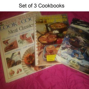 Set Of 3 Vintage Cookbooks